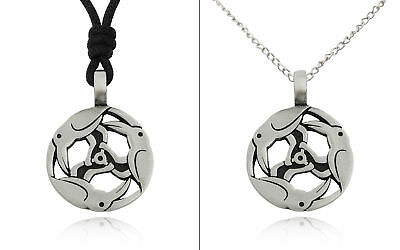 Celtic Norse Triple Crow Raven Silver Pewter Charm Necklace Pendant Jewelry