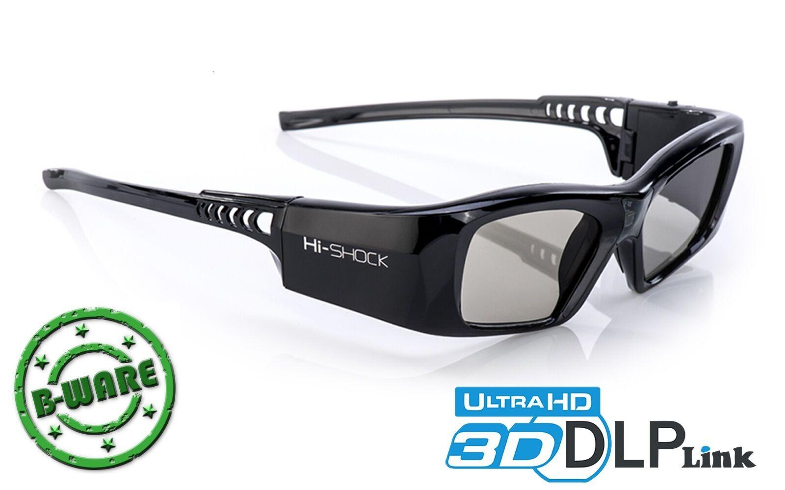 3D-Brille DLP Pro 7G Black Diamond   DLP-Link für Beamer BenQ Optoma Hi-SHOCK®