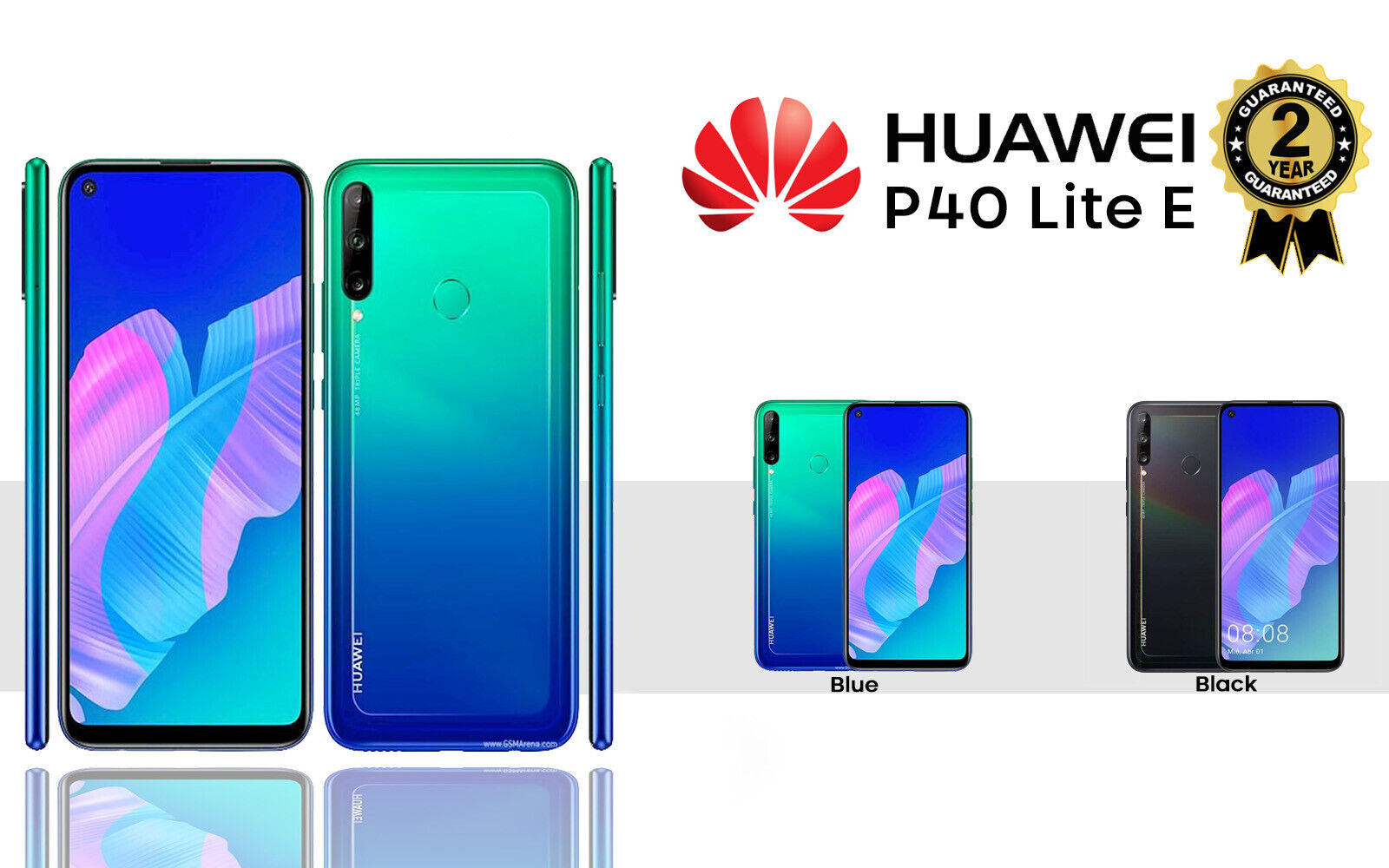 Android Phone - NEW HUAWEI P40 LITE E DUAL SIM FREE 64GB 4G LTE UNLOCKED PHONE SEALED BLUE BLACK