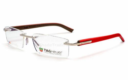 TAG HEUER REFLEX TITANIUM OPTICAL GLASSES FRAME ANTHRACITE BURGUNDY TH 3704 018