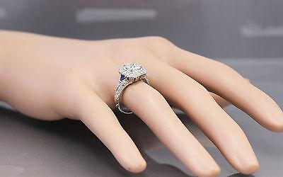 GIA F-VS2 18k White Gold Asscher Cut Diamond Engagement Deco Halo Ring 1.45ctw 1