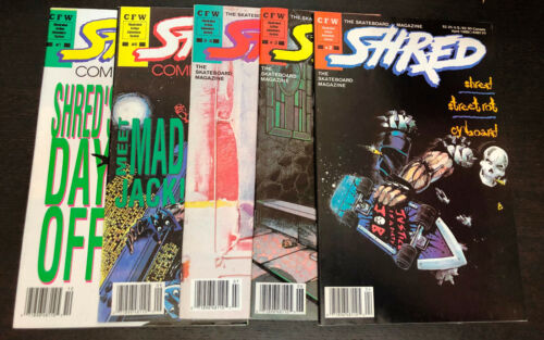 SHRED Skateboard (1989 CFW) -- #2 3 4 6 7 -- Lot of 5 Issues