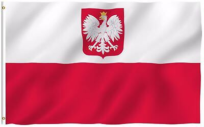 - Poland Eagle Flag Polish National Banner Polyester 3x5 Foot Country Flags