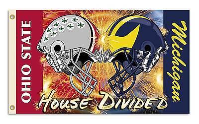 Ohio Michigan Helmet House Divided Flag 3