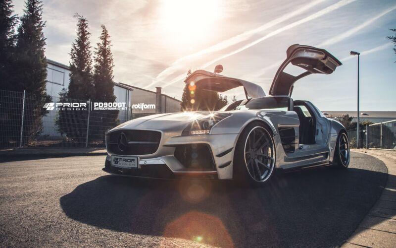 Mercedes Benz Sls Amg Wide Body Aero Kit Lip Bumper Spoiler Diffusor Fenderskirt