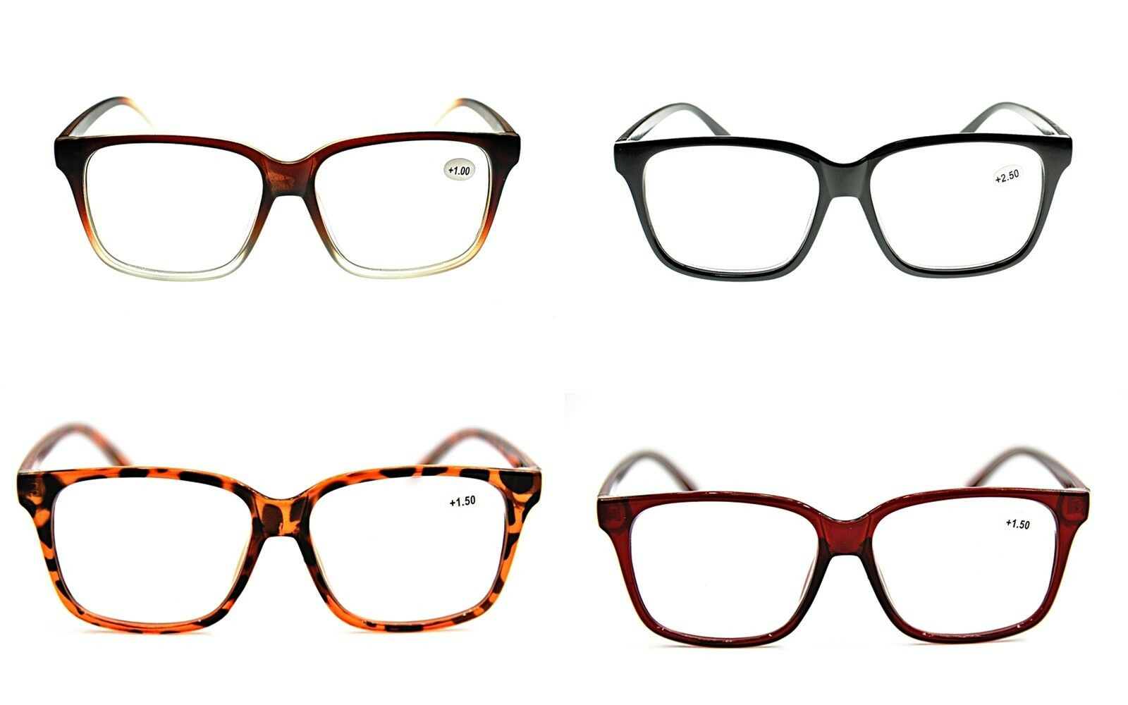 97f23d52f9 Details about Stylish Geek Nerd Big Frame Fashion Metal Hinged Reading  Glasses 4 Colours TN44