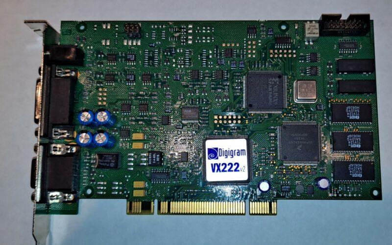 Digigram VX222 V2 AES/EBU Balanced XLR Broadcast Digital Audio Sound Card PCI