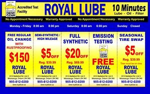 Synthetic Special $49.99 Emission Test Available