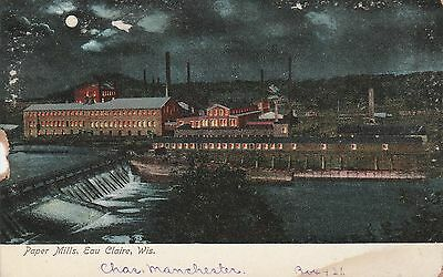 LAM(X) Eau Claire, WI - Paper Mills - Building Exteriors and Dam at Night