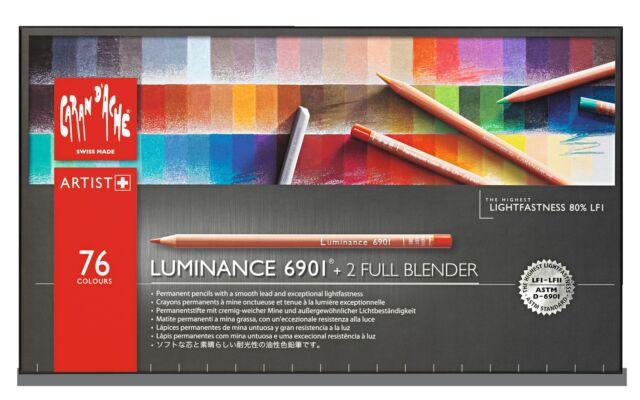 CARAN D'ACHE LUMINANCE 6901 - 76 PENCILS BOX - HIGHEST QUALITY AND LIGHTFASTNESS