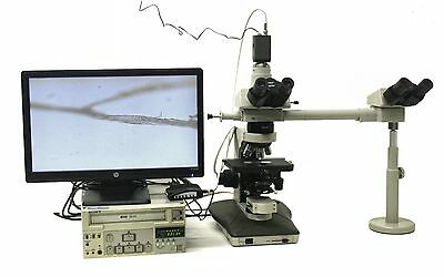 Nikon Labophot 2 Trinocular Teaching Microscope With Video Recording Systems