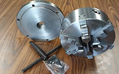 8 6-jaw Self-centering Lathe Chuck W.solid Jaws W. 1-12-8 Adapter--new