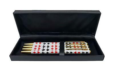 JYW Boxed Set of Bridge Pens - 4 Metal Barrel