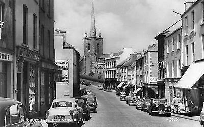 CHURCH ST. ENNISKILLEN CO. FERMANAGH IRELAND RP VALENTINES POSTCARD No. R5586