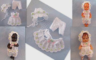 3-tlg Set für Püppchen 7- 8,5  cm