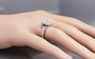 GIA F-VS2 18k White Gold Asscher Cut Diamond Engagement Deco Halo Ring 1.45ctw 2