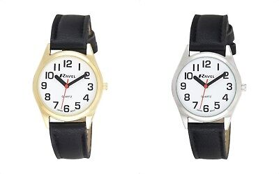 Classic Ladies Quartz Watch with Large Bold Easy Read Numbers. Gold or Silver