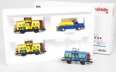 "4-tlg. Märklin 46751 Kesselwagen-Set ""Olex"" der DR / MHI / unbespielt / OVP"