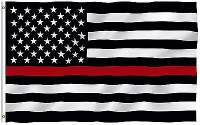 Thin Red Line Fire Dept USA Flag Respect and Honor Banner 3x5 Foot US Flags