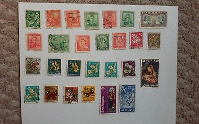 "New Zealand Stamps ""Lot of 27, from 1935-1971""  REMARKABLE!"