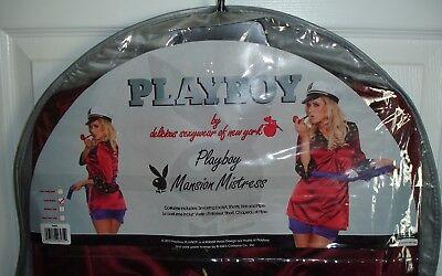 Womens Hugh Hefner Playboy Mansion Mistress Halloween Costume Sm/Med Jacket Hat - Hefner Halloween Costume