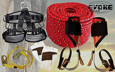Tree Climbing Spike Set Aluminum Spurs Climbers Harness 12 Glove 12rope