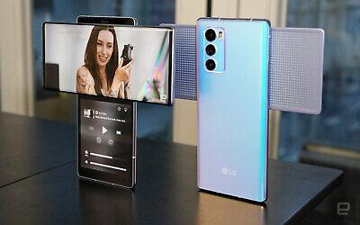 LG Wing 128GB Illusion Sky Unlocked Mobile Smart LM-F100N