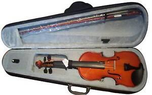 VIOLIN NEW - NEW Violins SIZES Half  1/2 1/8  set-up Bahrs Scrub Logan Area Preview