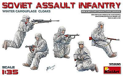 MINIART 35226 WWII Soviet Assault Infantry in Winter Camouflage Figuren in 1:35
