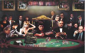 Gangster Poker Canvas Print  A1 30