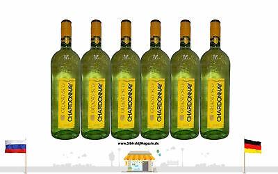 """GRAND SUD """"CHARDONNAY"""" Trocken Weißwein Jahrgang 2020 6 x 1L alc. 12,5% vol."""