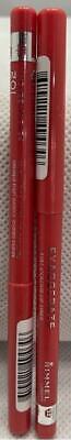 Lot of 2 Rimmel Exaggerate Full Colour Lip Liner Twist Pencil 102 Peachy Beachy