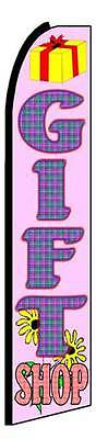 Gift Shop Advertising Feather Flutter Swooper 3 Ft Banner Flag And Pole Only