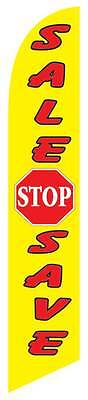 Windless Stop Sale Swooper Flag Advertising Sign 2.5 Wide Banner Only