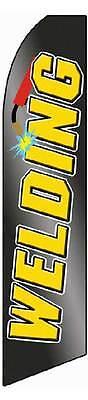Welding Black Yellow Swooper 12 Flag 15 Pole