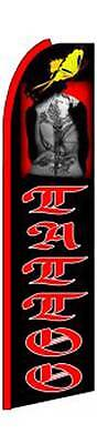 Tattoo With Picture Flutter Swooper Flag Advertising Sign 3 Wide Banner Only