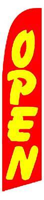 Windless Open Redyellow Swooper Flag Advertising Sign 2.5 Wide Banner Only