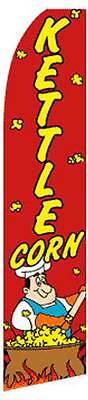 Kettle Corn Flutter Swooper Advertising Sign 2.5 Wide Banner Flag Only