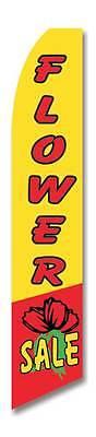 Flower Sale Flutter Swooper Advertising Sign 2.5 Wide Banner Flag Only