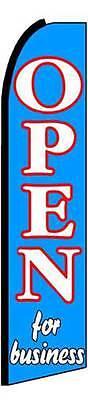 Open For Business Flutter Swooper Flag Advertising Sign 3 Wide Banner Only