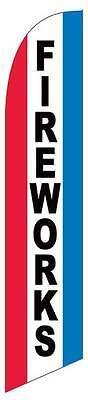 Patriotic Custom Banner - Fireworks Patriotic Windless Custom Designe Advertising Swooper Banner Flag Pole