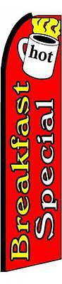 Breakfast Special Banner Flag 3 Wide Advertising Sign Swooper Feather