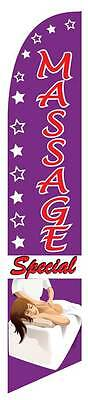 Massage Special Windless Feather Advertising Swooper Banner 12 Flag 15 Pole