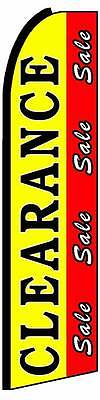 Clearance Sale Red Yellow Flutter Swooper Flag Advertising Sign 3 Wide Banner