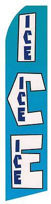 Ice Feather Flutter Advertising Sign Blade Bow Banner Swooper 12 Flag 15 Pole