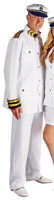 Kapitän Kostüm für Herren - Seemann Matrosen Party Kreuzfahrt Anzug mit Mütze