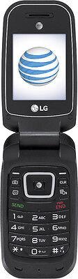 AT&T Prepaid - LG B470 Prepaid Cell Phone - Black