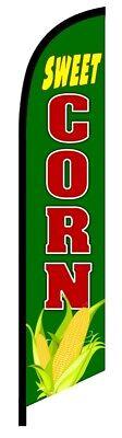 Sweet Corn Premium Quality Feather Swooper Flutter Flag Vertical Banner