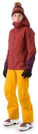 NEW Arc'teryx Nevus Ski / Snowboard Pants - Woman - Clementine - Size 8
