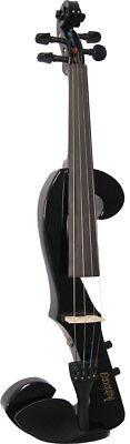 Valentino VE-008 Completo Talla 4/4 Eléctrico Violín Negro + Forma Inalámbrica.